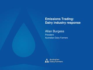 Emissions Trading: Dairy industry response