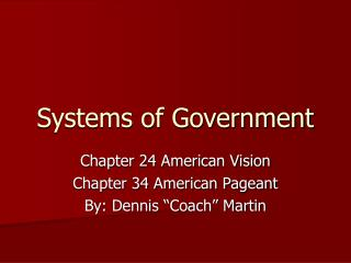 Systems of Government