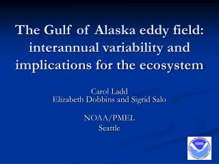 The Gulf of Alaska eddy field: interannual variability and implications for the ecosystem