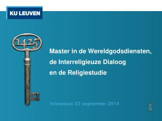 Infosessie 22 september 2014