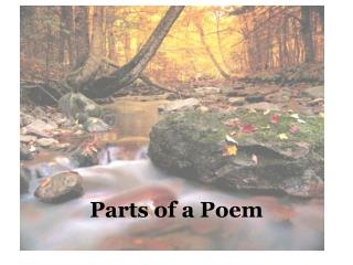 Parts of a Poem