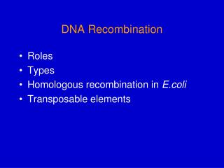 DNA Recombination