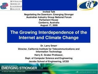 The Growing Interdependence of the Internet and Climate Change