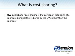 What is cost sharing?