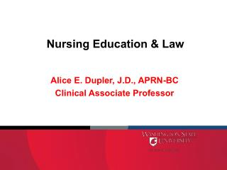 Nursing Education & Law