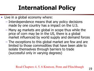 International Policy