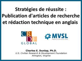 Stratégies de réussite: Publication d'articles de recherche et rédaction technique en anglais