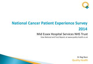 National Cancer Patient Experience Survey  2014