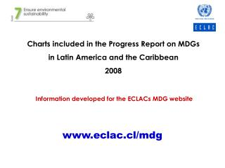 Charts included in the Progress Report on MDGs  in Latin America and the Caribbean 2008