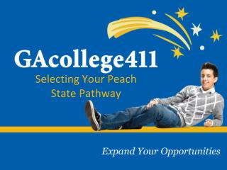 Selecting Your Peach State Pathway