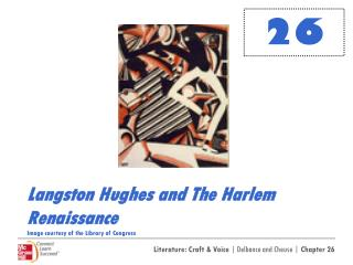 Langston Hughes and The Harlem Renaissance Image courtesy of the Library of Congress
