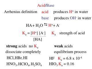Acid / Base