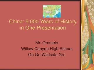 China: 5,000 Years of History in One Presentation