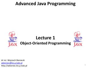 Lecture 1 Object-Oriented Programming