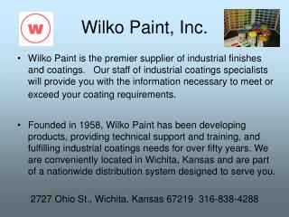 Wilko Paint, Inc.