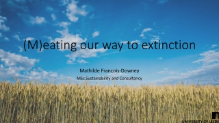 Environmental Sciences: Towards a Sustainable Future Chapter 10