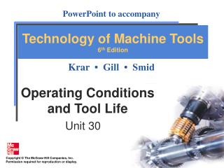 Operating Conditions  and Tool Life