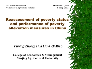Reassessment of poverty status and performance of poverty alleviation measures in China