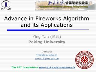 Advance in Fireworks Algorithm  and its Applications