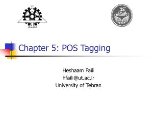 Chapter 5: POS Tagging