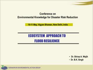 Conference on Environmental Knowledge for Disaster Risk Reduction