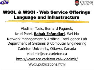 WSOL & WSOI - Web Service Offerings Language and Infrastructure