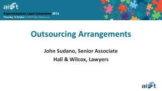 Outsourcing Arrangements