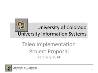 University of Colorado University Information Systems