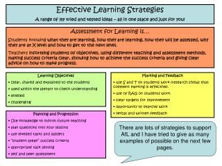 Effective Learning Strategies
