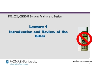 IMS1002 /CSE1205 Systems Analysis and Design