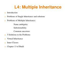 L4: Multiple Inheritance