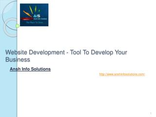 Website Development - Tool To Develop Your Business