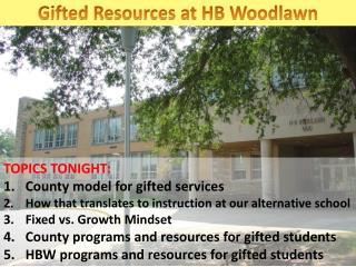Gifted Resources at HB Woodlawn