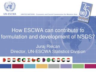 How ESCWA can contribute to formulation and development of NSDS?