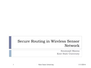 Secure Routing in Wireless Sensor Network