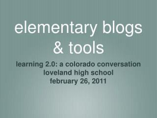 elementary blogs & tools