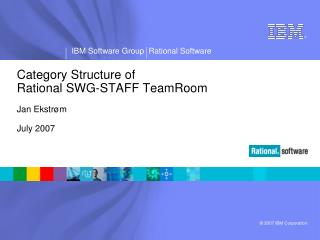 Category Structure of Rational SWG-STAFF TeamRoom Jan Ekstrøm July 2007