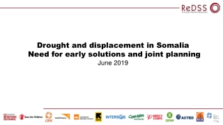 Drought and displacement in Somalia Need for early solutions and joint planning June 2019