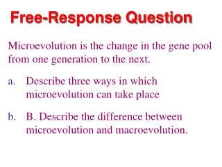 Free-Response Question