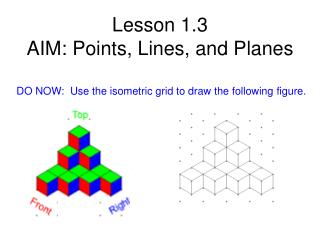 PPT - Lesson 1 3 AIM: Points, Lines, and Planes PowerPoint