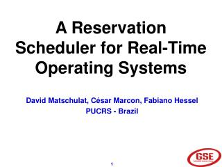 A Reservation Scheduler for Real-Time Operating Systems