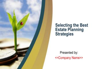Selecting the Best Estate Planning Strategies