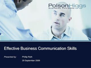 Effective Business Communication Skills