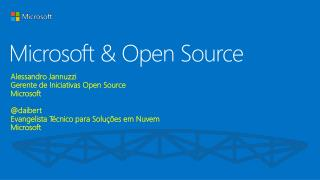 Microsoft &  Open Source