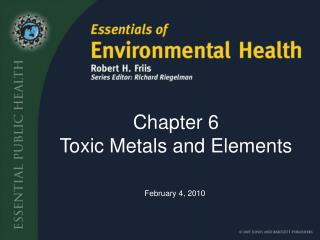 Chapter 6 Toxic Metals and Elements