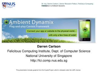 Darren Carlson Felicitous Computing Institute, Dept. of Computer Science