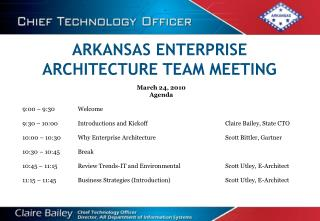 ARKANSAS ENTERPRISE ARCHITECTURE TEAM MEETING