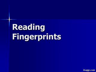 Reading Fingerprints