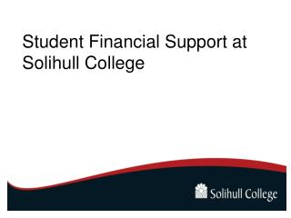Student Financial Support at Solihull College