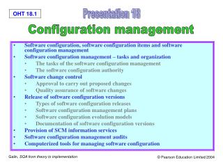 Software configuration, software configuration items and software configuration management